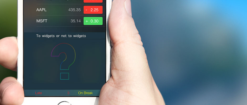 To widgets, or not
