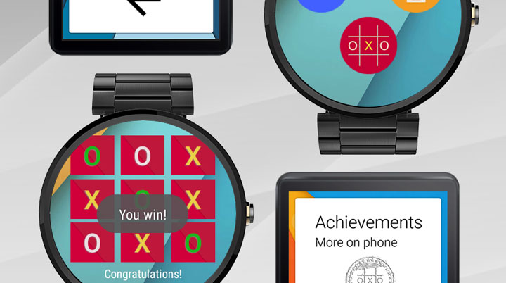 Get the Tic Tac Toe game for Android Wear